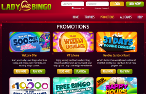 Play with New UK Bingo Site Lady Love Bingo