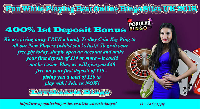 Fun While Playing Best Online Bingo Sites UK 2018